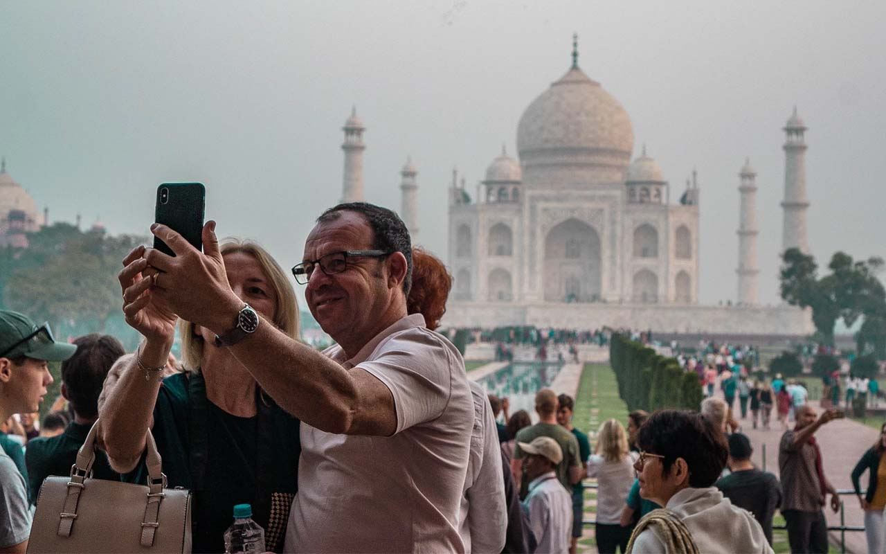Taj Mahal, people, life, facts, Agra, Delhi, people, selfie