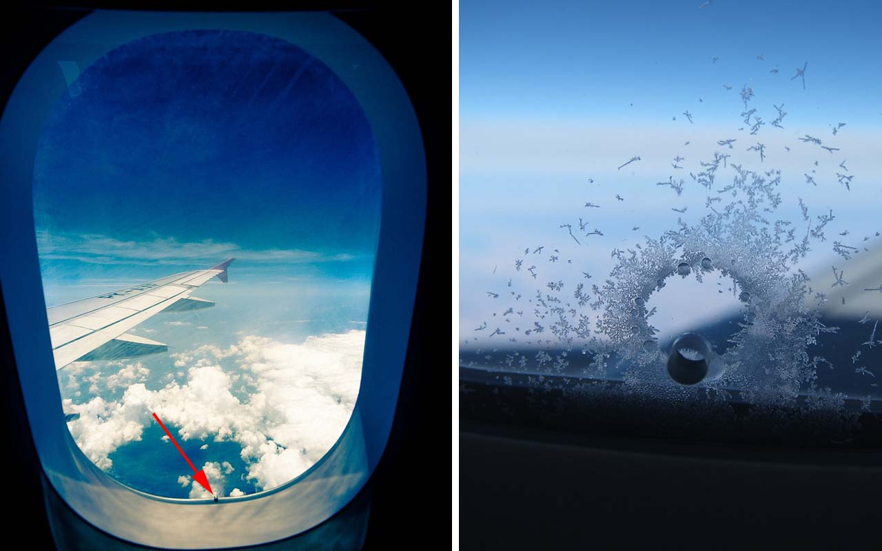 airplane window, icing, hole, facts, science, flying, travel, people, photography