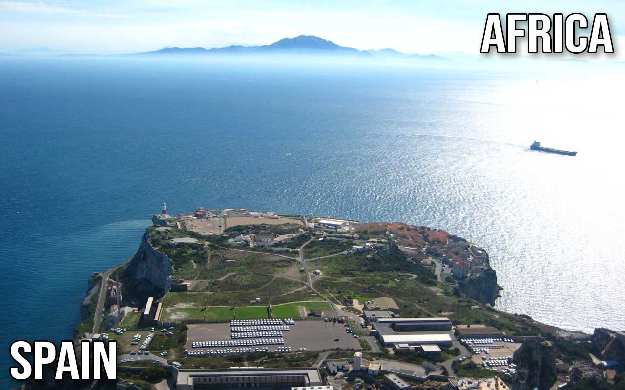 Gibraltar, facts, Africa, Spain, science, Mediterranean ocean, Earth, view