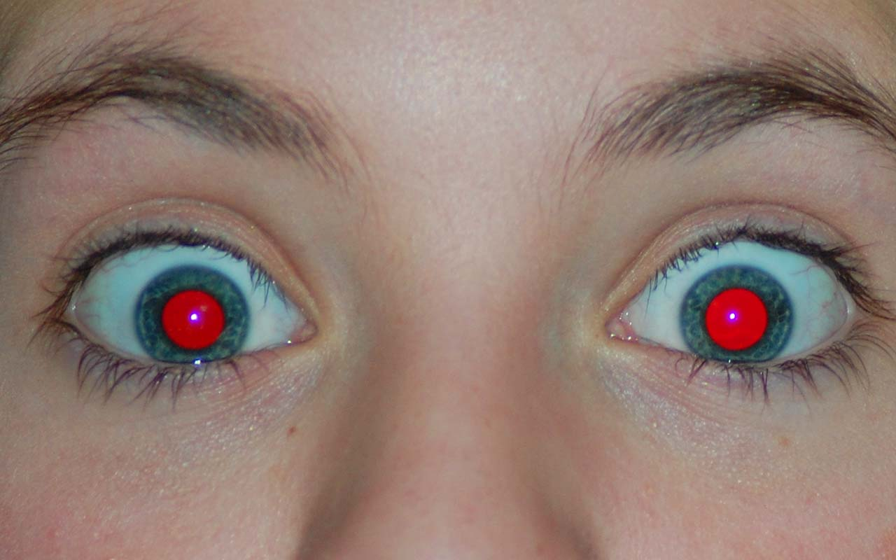 red eye reduction, photo, science, eyes, people, life, facts, eye opening