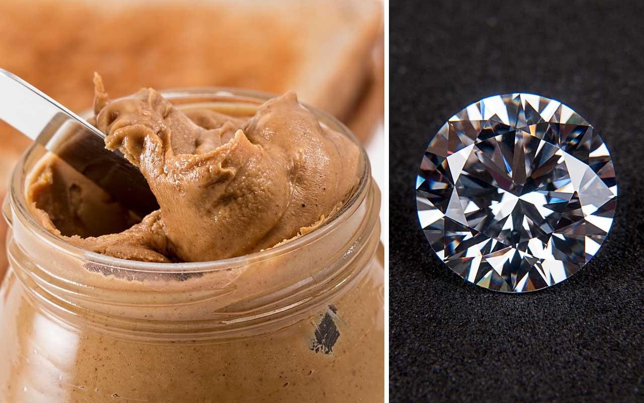 peanut butter, foods, facts, diamond, science
