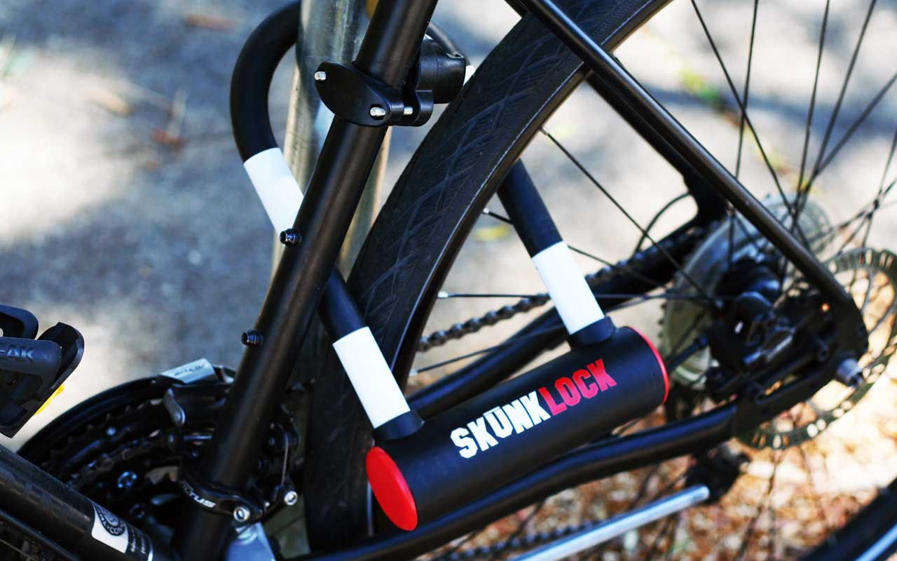 Skunk Lock, bike, bicycle, facts, riding, people, gadgets, technology