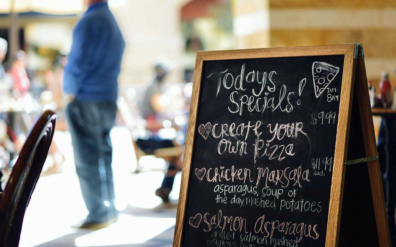 menu board, sign, people, life, facts, restaurants