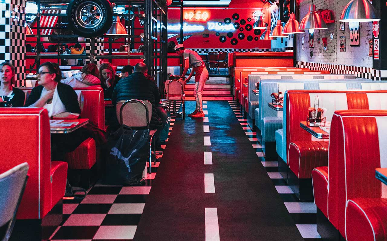 restaurant, nostalgic, facts, eatery, red, colors, history