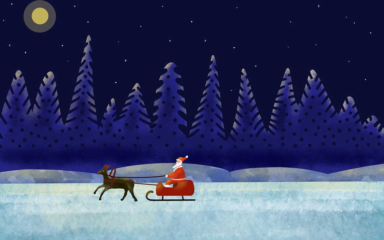 Santa, sleigh, reindeer, Rudolph, red nose, facts, history