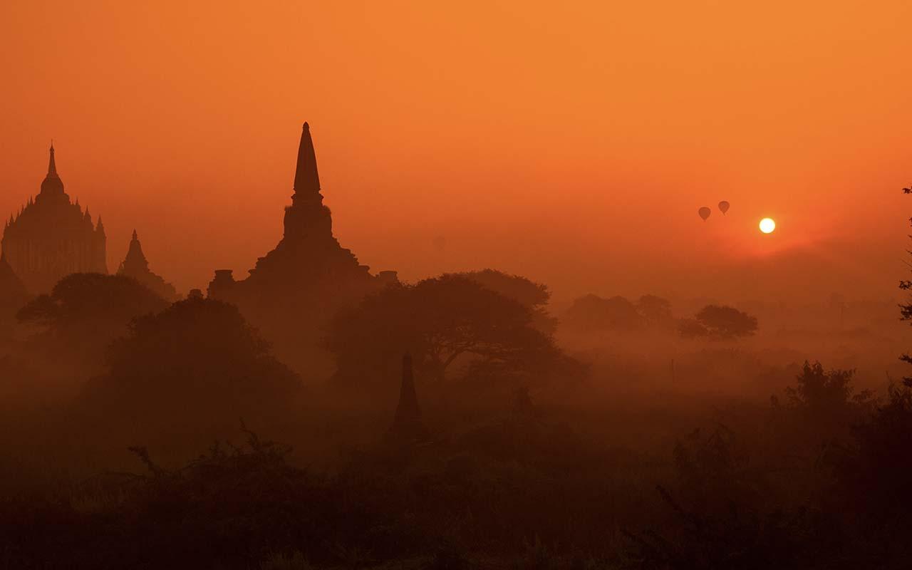 Bagan, Myanmar, sunset, travel, life, people