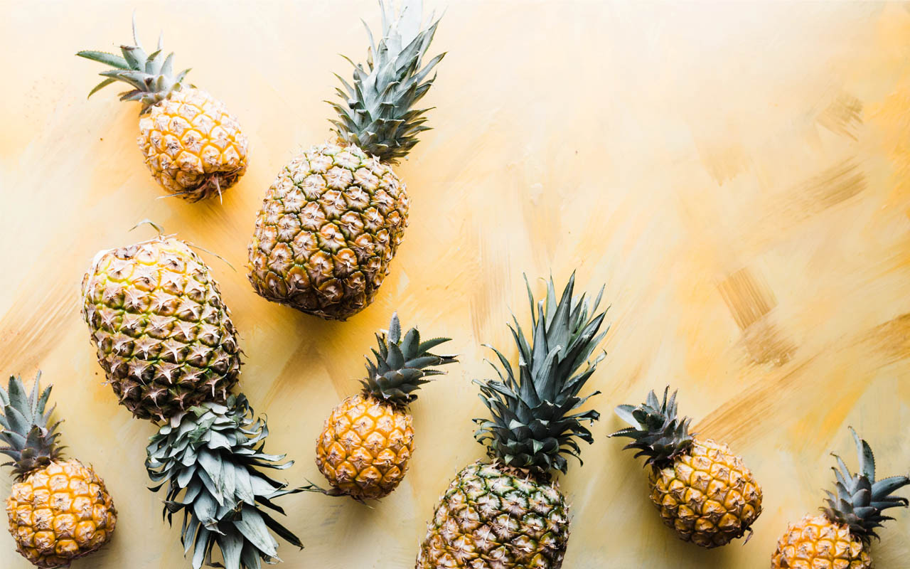 Pineapples, berries, fused together, facts