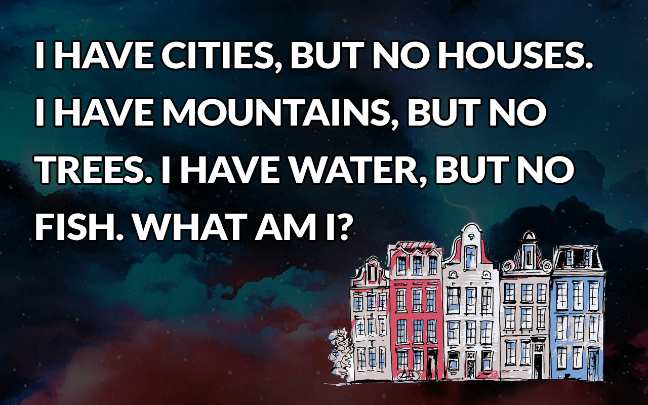 cities, mountains, people, life, maps, riddles